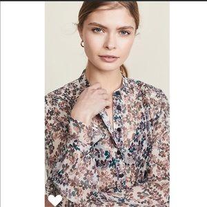 Rag & Bone Susan Lavender Floral Blouse Sz M